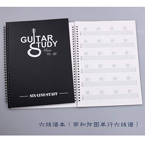 Tabulaturbuch Gitarre Noten Ukulele Bass Partituren Noten Notenbuch