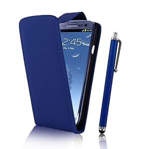 Bleu Etui en cuir Flip & Stylet pour Samsung Galaxy S3 I9300 By EASYi