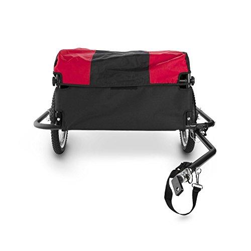 DURAMAXX Mountee • Fahrradanhänger • Lastenanhänger • Handwagen • mit Hochdeichsel • Transportbox mit 130 Liter Volumen • Tragkraft: max. 60 kg • Kugel-Kupplung für Fahrräder mit 26'' - 28'' • pulverbeschichteter Stahlrohrrahmen • rot - 3