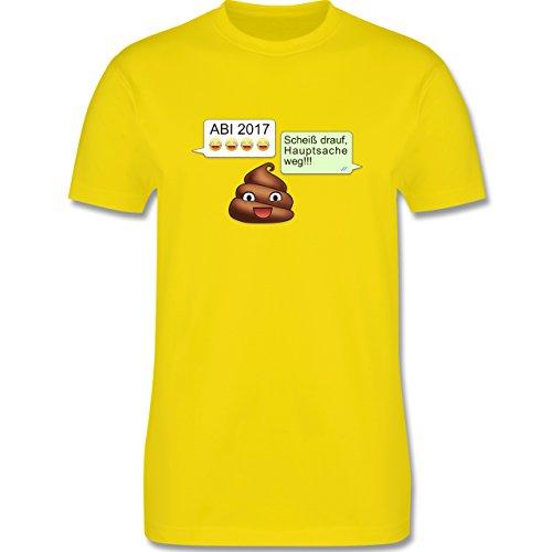 Abi & Abschluss - ABI 2017 - Scheiß drauf Messenger - Herren Premium T-Shirt Lemon Gelb