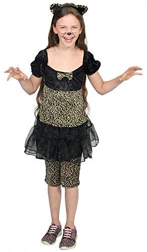 rden Kostüm für Mädchen | Größe: 98 - 140 | Tierkostüm Leopard Mädchenkleid Kleid Leggings Ohren Fasching Karneval , Größe:122/128 (Leopard Halloween-kostüme Für Mädchen)