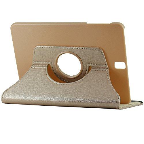 Preisvergleich Produktbild 'ebestStar Flipcase für Samsung Galaxy Tab S39,7sm-t820, sm-t825–Schutzhülle PU Leder Halterung 360° drehbar, Farbe Gold/Gold [Maße precises von Ihr Gerät: 237.3x 169x 6mm, Display 9,7]