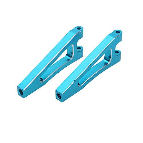 Preisvergleich Produktbild L-MEIQUN, Verbesserte 166018 Blaue Aluminium-Front und oberer Querlenker für 1 / 10 HSP 4WD RC Off-Road-Fahrzeugmodell 94166 Rückspülung(Color:Blau)