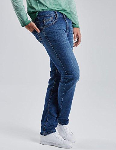 Pioneer Herren Straight Leg Jeanshose Rando Blau (stone used 346)
