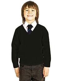 Niños Escuela Uniforme V Cuello Premium Mezcla de Lana de Punto Pullover  Jumper 92483ce166f13