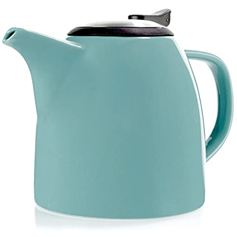 Tealyra - Drago Ceramic Teapot - 1100ml (5-6 cups) - Large Stylish High-Fired Ceramic Teapot with Stainless Steel Lid and Extra-Fine Infuser To Brew Loose Leaf Tea - Dishwasher-safe - BPA Free -