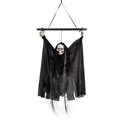 Halloween Dekorationen Hängen Ornamente Geist Requisiten Mit Horror Sound Und Rotes Licht Für Bar KTV Szene Ghost Festival Hause Tür Garten Baum Fenster (Handwerk Hängen Tür Halloween)