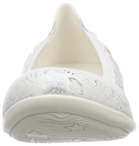Dockers by Gerli Damen 34fu201-600500 Geschlossene Ballerinas Weiß (Weiss 500)