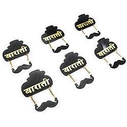 Satyam Kraft 6 Pcs Barati Brooch Pins Brooch Ladkewale Brooch (6 pcs Barati)
