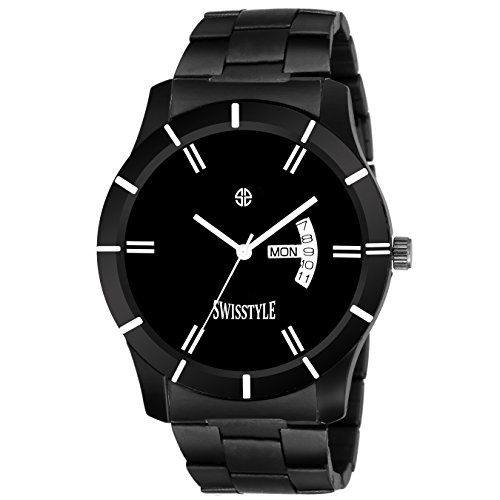 Swisstyle Day and Date Display Black Dial Men\'s Analog Watch-SS-GR065-BLK-DD