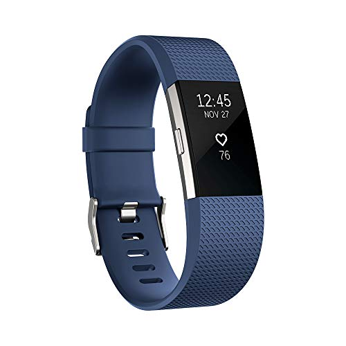 Fitbit Charge 2 Activity Tracker with Wrist Based Heart Rate Monitor - Blue/Large