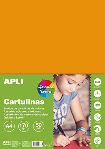 APLI 15117 - Cartulinas surtido intenso A4 170 g 50 hojas