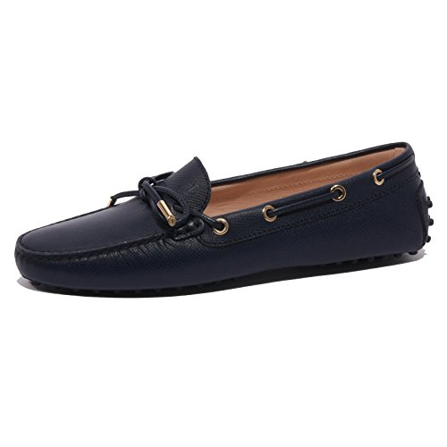 b1446-mocassino-donna-tods-scarpa-laccetto-blu-loafer-shoes-women-40