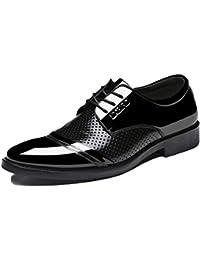 Dilize - Zapatos de cordones de Piel para hombre, color marrón, talla 43 EU