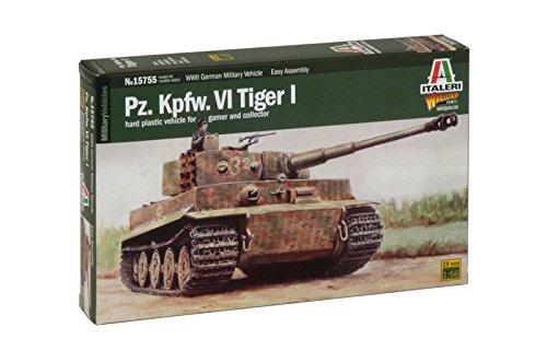 Italeri 15755 - pz.kpfw. vi tiger   1:56 scale model kit  scala 1:56