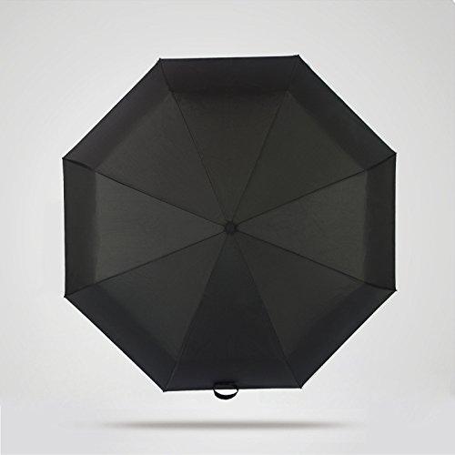 Automatische Travel Regenschirm Winddicht Wind beständig Kompakter Golf Regenschirm mit Auto Open Close tragbar und leicht für Herren Damen–Regenschirm für Einhandbedienung, rutschhemmender Griff für einfaches tragen, schwarz (Golf Id Nike)