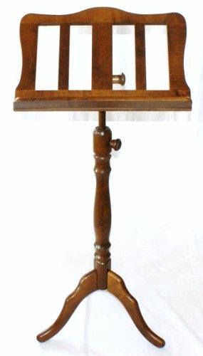 CHESTER Holz-Notenpult aus Ahorn nußbaumfarbig ,geschwungener Barock-Notenständer aus massivem Ahorn, ideal für größere und schwerere Notenbücher