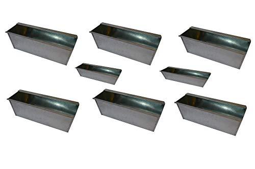8X Blumenkasten Balkonkasten Einsatz für Europalette Pflanzkasten Verzinkt ca.35,5 X 12,5 x 12 CM Beet Garten vor der Haustüre für Europaletten oder passende Einwegpaletten Einsatz Blumen Pflanzen