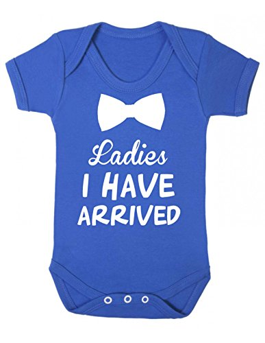 Ladies I have arrived baby bodysuit vest babygrow onesie sleepsuit rompersuit (3-6 months, Royal Blue)