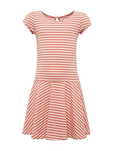 TOM TAILOR für Mädchen Kleider & Jumpsuits Gestreiftes Kleid New Magnetic orange, 128/134