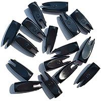 SHARROW 50pcs Nocks de Flecha 1/4 9/32 pulgada Plástico Flecha Nock para Caza con Arco (Negro, 9/32)