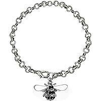 Katylen Little Bee Lady Diamant Armband Elegante Zirkon Mode Armreif Handpiece Nette Kleine Biene Halskette Schmuck,A,Einheitsgröße