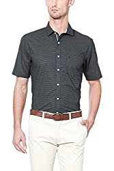 Allen Solly Mens Casual Shirt (8907587963211_AMSH517G01141_44_ Grey With Black)