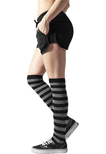 Ladies Striped Socks blk/cha 36-39