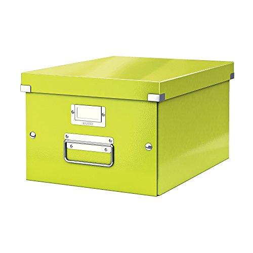 Leitz, Mittelgroße Aufbewahrungs- und Transportbox, Grün, Mit Deckel, Für A4, Click & Store, 60440064