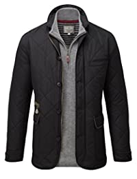 VEDONEIRE Men's Quilted Jacket (3077 Black)