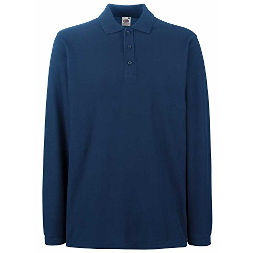 Fruit of the LoomHerren Langarmshirt Blau - Navy