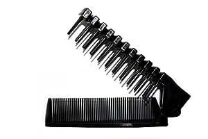 Peigne à barbe + brosse pliable noire Bilson