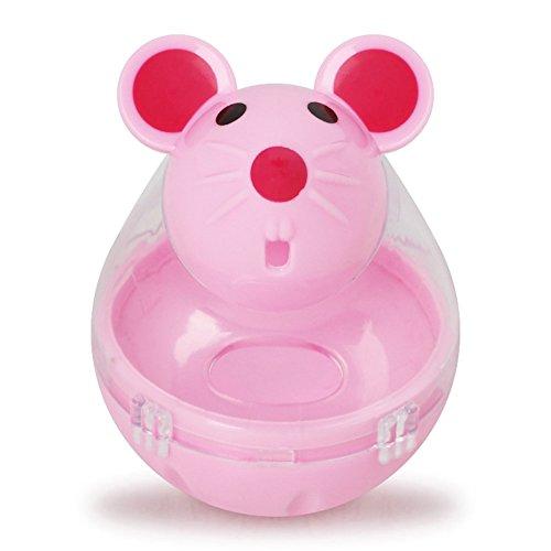 Crewell Katzen-Becher, automatischer Futterspender, lustige Maus, aus Kunststoff