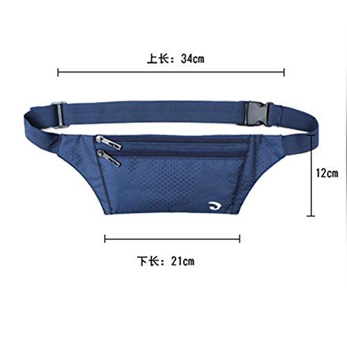 BUSL Wandern Hüfttaschen Männer Außentaschen Sporthandypaket Frau schlank unsichtbare persönliche Sicherheit Reisepass Paket läuft f