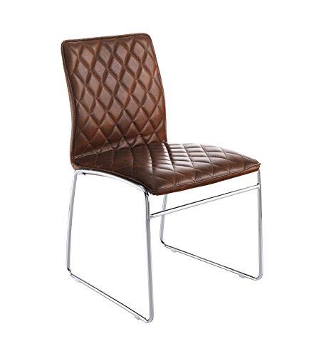 Wink design -Alabama - pièce de 4 chaises marron - simili-cuir