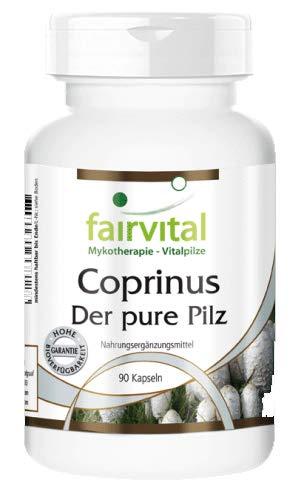 Coprinus 500mg cápsulas - VEGANO dosis alta - 90 cápsulas - polvo de setas - Coprinus comatus - ¡Calidad Alemana garantizada!