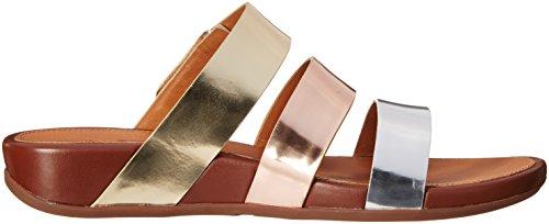 Sandales De Métaux Précieux FitFlop Gladdie Diapositive Métaux Précieux