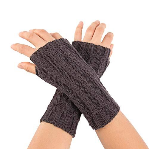 TEBAISE Handschuhe Damen FüR Frauen Armstulpen FüR Halber Finger Warme Handschuhe FüR Frauen ArmwäRmer FüR Handy (Piraten-kostüme Weibliche Ideen)