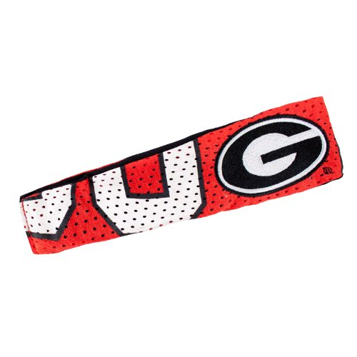 ncaa-georgia-bulldogs-fanband-headband-red-by-littlearth