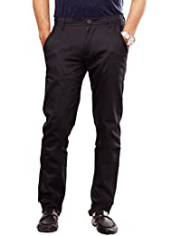 100% Cotton Lycra Slim Fit stretchable Mens Sleek pant by Uber Urban