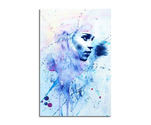 Daenerys_Targarye_II_90x60cm Paul Sinus Art Wandbild Aquarell Unikat Kunst Bild wie Gemälde Kunstdruck