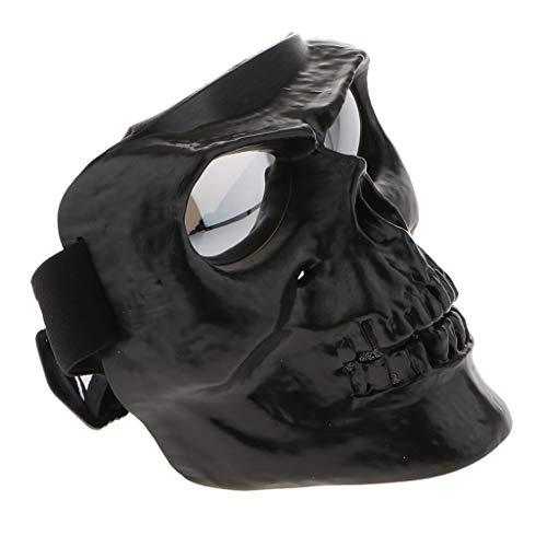 perfeclan Motorrad Brille Mit Abnehmbarer Gesichtsmaske Helm Winddicht Reiten Sonnenbrille