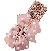 diademas bebe niña diademas bebe recien nacidos K-youth® Punto de ola bowknot banda para el pelo elasticas cintas de pelo bebe niña bautizo cinta para bebé para 0 meses a 4 años