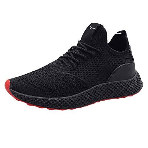 Luckycat Turnschuhe Damen Leichte Laufschuhe Herren Atmungsaktive Sneaker Rutschfeste Sportschuhe Bequeme Fitnessschuhe
