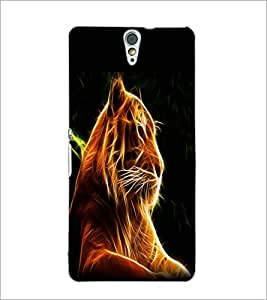 PrintDhaba Digital Lion D-1212 Back Case Cover for SONY XPERIA C5 ULTRA (Multi-Coloured)