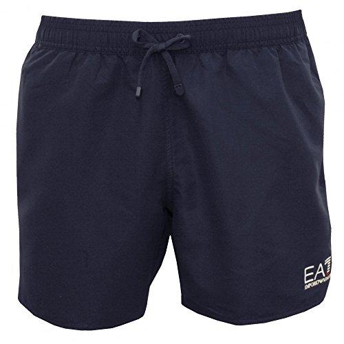Emporio Armani Homme EA7 Logo Short de bain, Bleu Bleu Marine/blanc