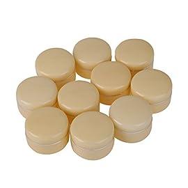 Everpert 10pcs 30g vide Cosmétique Pot Pot Fard à paupières crème visage Conteneur Box (Beige)