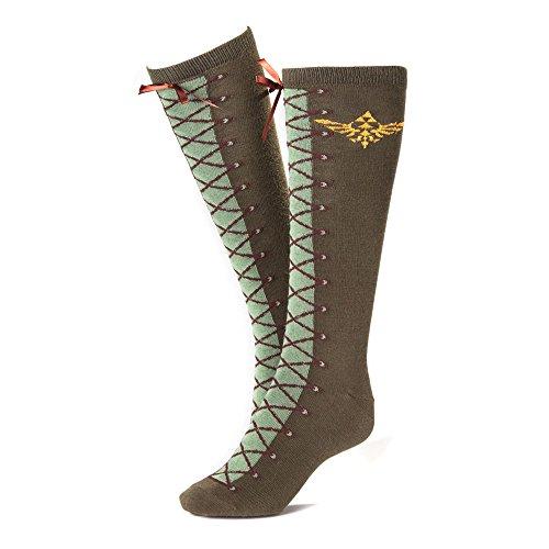 415KJkmwBfL. SS500  - Zelda Nintendo Boot Effect Knee High Socks