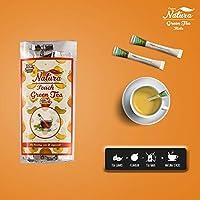 Crave Natura Green Tea Organic Pure & Light Flavoured, 6 Tea Sticks (Peach)