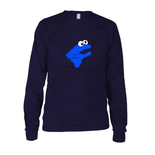 Cookies are Coming - Herren Langarm T-Shirt Dunkelblau